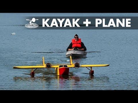 Giant RC Plane Pulls Kayak | Sea Duck - UC9zTuyWffK9ckEz1216noAw