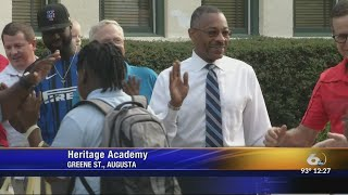 Heritage Academy first day of school