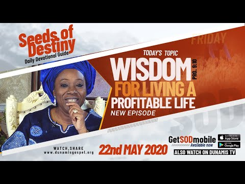 Dr Becky Paul-Enenche - SEEDS OF DESTINY  FRIDAY, 22 MAY, 2020