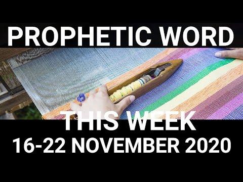 Prophetic Word for This week 16 November 2020