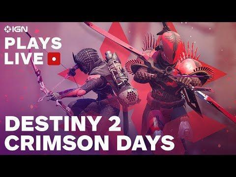 Destiny 2 Crimson Days Stream w/ Fireteam Chat - IGN Plays Live Presented by PlayStation Plus - UCKy1dAqELo0zrOtPkf0eTMw