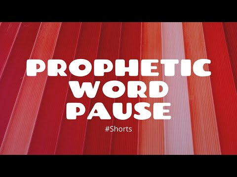 Prophetic Word - Pause #Shorts