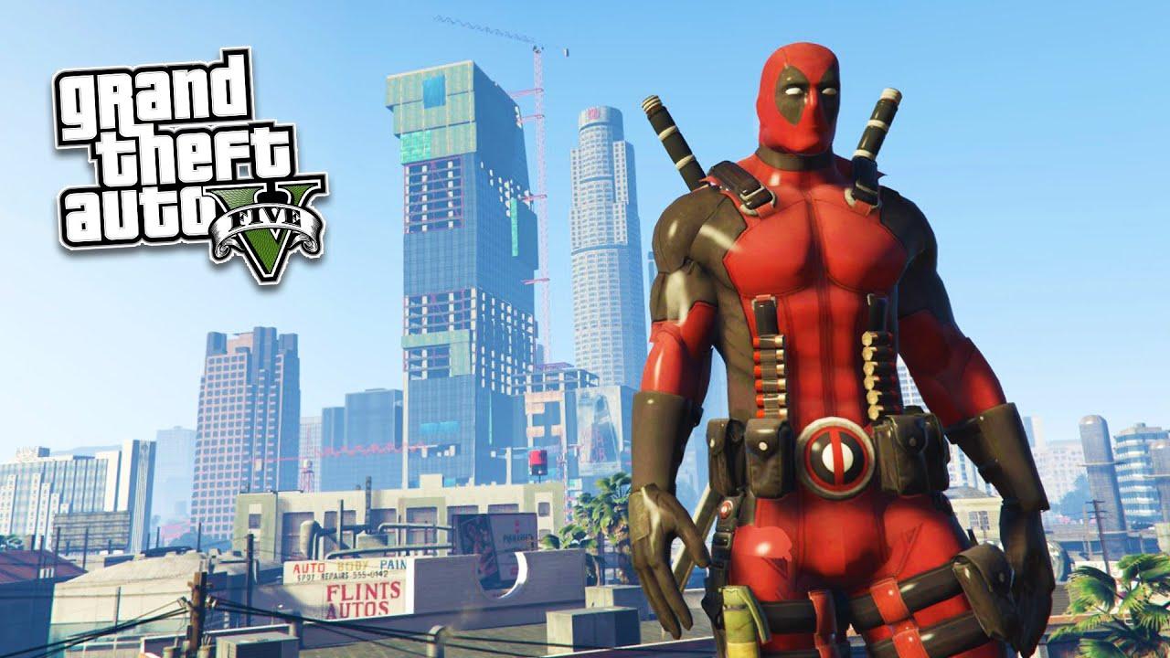 GTA 5 PC Mods - ULTRA REALISTIC DEADPOOL MOD! GTA 5 Deadpool Mod Gameplay!  (GTA 5 Mod Gameplay) | FpvRacer.lt