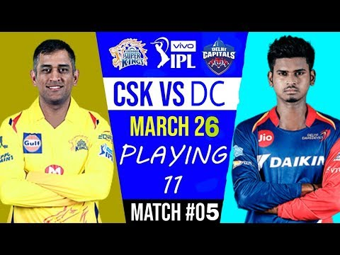 #Csk_VS_Dc Playing 11 #Vivo ipl_2019 |#indiacrickettv