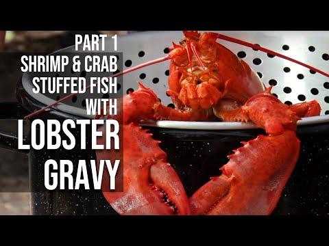 Shrimp & Crab Stuffed Fish with Lobster Gravy -Part One - UCjrL1ugI6xGqQ7VEyV6aRAg