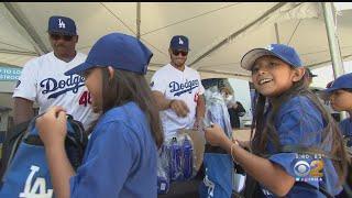 Dodgers Give Back With Play Ball Youth Clinic