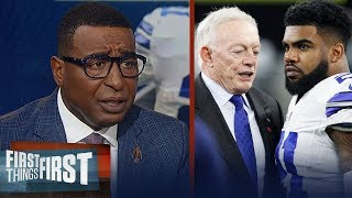 Cris Carter agrees Jerry Jones has 'earned the right' to joke about Zeke   NFL   FIRST THINGS FIRST