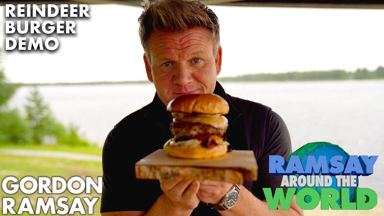 Gordon Ramsay Makes a Reindeer Burger!?   Ramsay Around the World