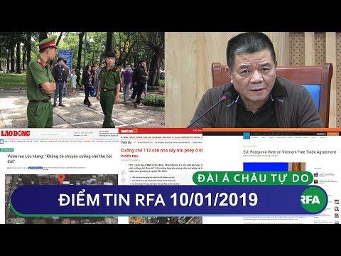 Điểm tin RFA tối 10/01/2019 | Việt Nam vẫn bị xếp vào danh sách các nước không có dân chủ