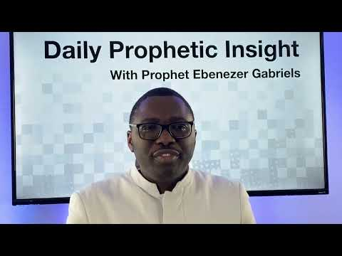 Prophetic Insights - January 13, 2021