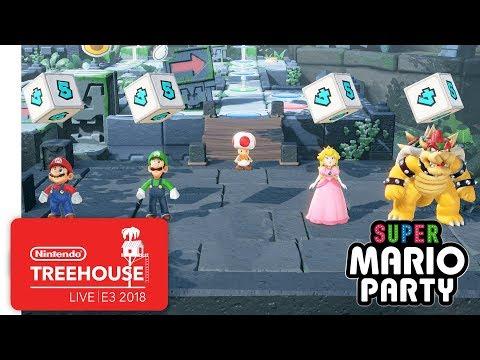 Super Mario Party Gameplay Pt. 1 - Nintendo Treehouse: Live | E3 2018 - UCGIY_O-8vW4rfX98KlMkvRg