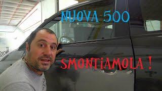 Smontaggio pannello porta Fiat 500 Nuovo Modello