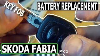 Cambio batteria chiave Skoda Fabia Prima Serie