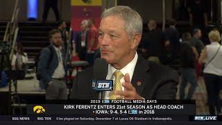 Iowa Coach Kirk Ferentz on Navigating 2019 Season   2019 B1G Football Media Days