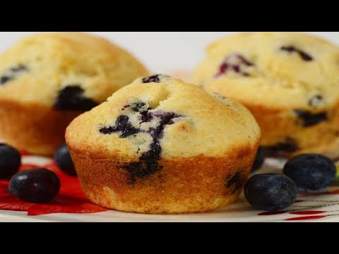 Blueberry Cornbread Muffins Recipe Demonstration - Joyofbaking.com