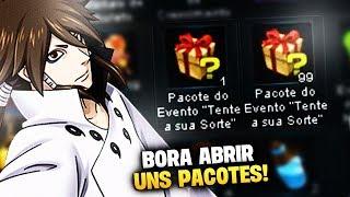 4º META BATIDA! ABRINDO 99 PACOTES DA SORTE | Naruto Online