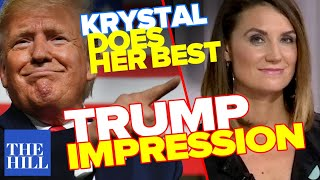 Comedian Anthony Atamanuik teaches Krystal how to do a Trump impression