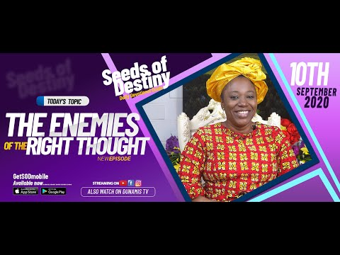 Dr Becky Paul-Enenche - SEEDS OF DESTINY - THURSDAY SEPTEMBER 10, 2020