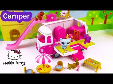 MLP LPS Hello Kitty Summer Camper RV Van  Review with Fluttershy Twilight Littlest Pet Sho - UC-6OW5aJYBFM33zXQlBKPNA