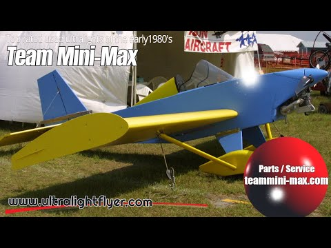 TEAM Mini Max Ultralight Aircraft, Top rated ultralight aircraft of the early 1980's.