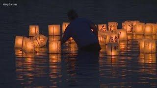 Lantern vigil at Seattle's Green Lake honors victims of Hiroshima