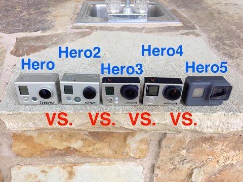 GoPro Hero5 vs Hero4 vs Hero3 vs Hero2 vs Hero - Video Quality u0026 Slow Motion & GoPro Hero5 vs Hero4 Low Light Comparison - GoPro Tip #556 ... azcodes.com