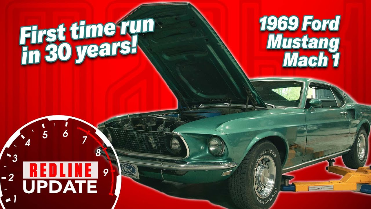 Will it run? Starting up a 1969 Ford Mustang Mach 1 for the first time in 30 years