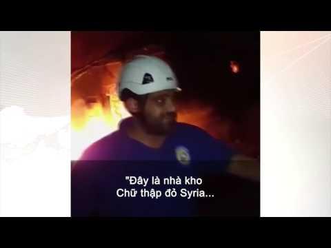 Đoàn cứu trợ bị ném bom ở Syria