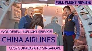 CHINA AIRLINES FLIGHT REVIEW | CI752 | A330-300 | SURABAYA TO SINGAPORE