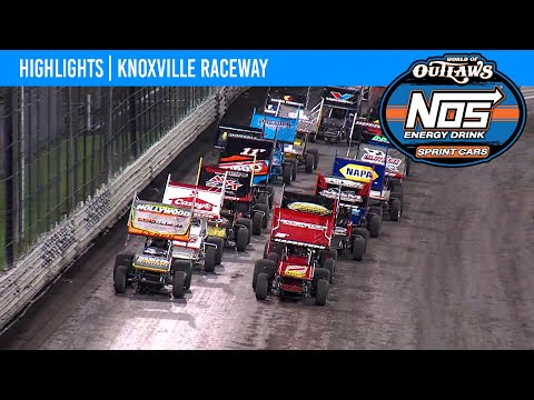 World of Outlaws NOS Energy Drink Sprint Cars Knoxville Raceway, August 12, 2021 | HIGHLIGHTS - dirt track racing video image