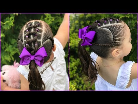 Youtube Peinado Para Ninas Con Ligas Y Trenzas Pegadas Peinados