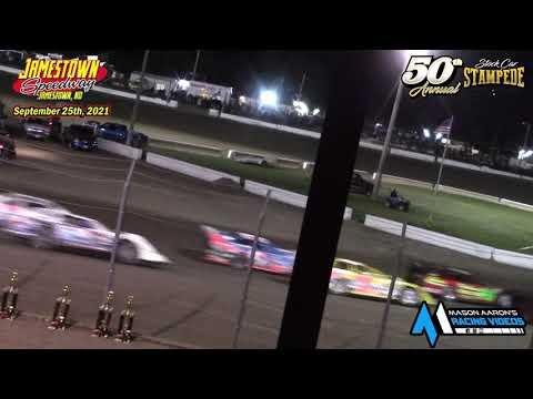 Jamestown Speedway WISSOTA Late Model A-Main (50th Jamestown Stock Car Stampede) (9/25/21) - dirt track racing video image