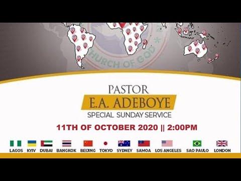 RCCG OCTOBER 11th 2020  PASTOR E.A ADEBOYE SPECIAL SERVICE