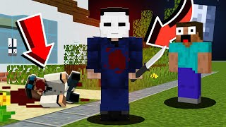 He *SCREAMED* when I TROLLED him as MICHAEL MYERS in Minecraft! (Minecraft Pranking)