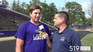 OUA Football - SJAM grad Bryce Bell going into his 4th season at Laurier
