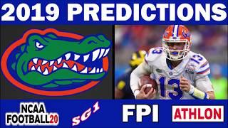 Florida 2019 Football Predictions - Comparing Sources