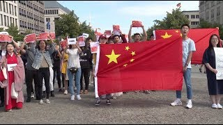 Chinese Gather in Berlin Against Violence in Hong Kong