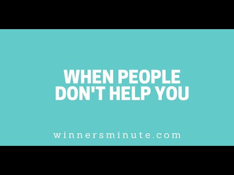When People Dont Help You // The Winner's Minute With Mac Hammond
