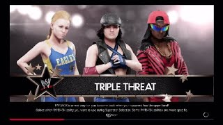 WWE 2K19 Triple Threat - Samantha Westley vs Phoebe Lords vs Rina Fox