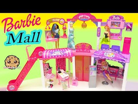 Disney Queen Elsa & Princess Anna Shop at Barbie Malibu Mall Playset - Toy Video Cookieswirlc - UCelMeixAOTs2OQAAi9wU8-g