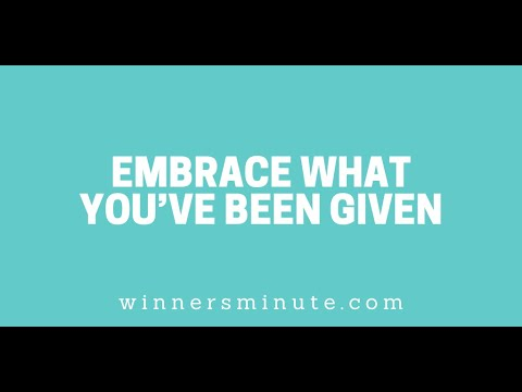 Embrace What Youve Been Given // The Winner's Minute With Mac Hammond
