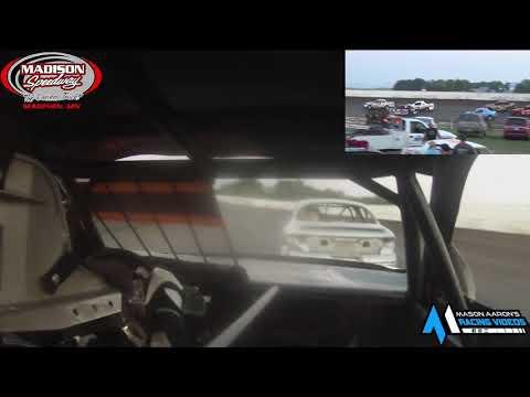 #17 Dylan Tirrel WISSOTA Hornet On-Board @ Madison (7/24/21) - dirt track racing video image