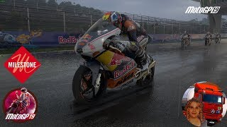 MotoGP™19 Career Rookies Cup Wet Race Test Gameplay ITA
