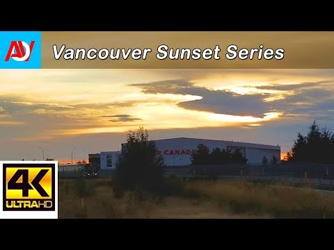 Vancouver SUNSET MINUTE: WAITING FOR THE TRAIN HOME @ Templeton Station, Richmond by YVR Airport