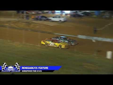 Renegade/Crate Sportsman Feature - HorsePower Park 9/3/21 - dirt track racing video image