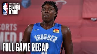 THUNDER vs 76ERS | Thunder Hold On For Victory In OT | MGM Resorts NBA Summer League