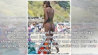 Emily Ratajkowski's ample assets spill out of racy bottom-baring swimsuit in beach snaps
