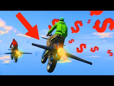 GTA 5 GUN RUNNING DLC - FINAL MISSION w/ FLYING ROCKET BIKE & CARGO