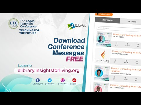 The Lagos Teachers' Conference  TEACHING FOR THE FUTURE  LTC 2019