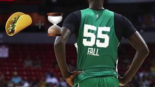 Tacko Fall's Legend Grows, Signs Kyrie Irving Jersey